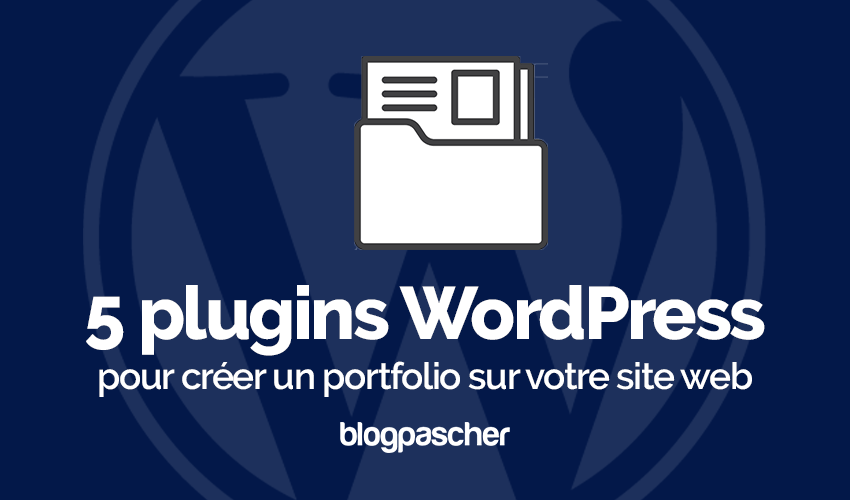 Plugin Wordpress Créer Portfolio Site Web