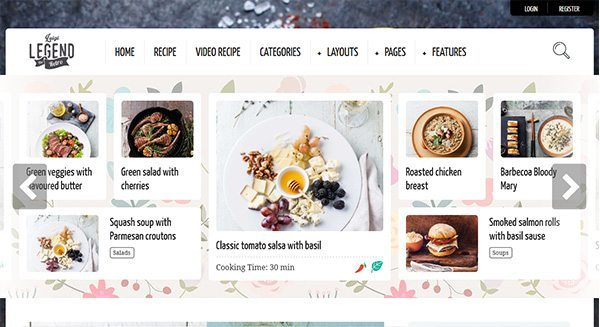 the-legend-theme-wordpress-comment-creer-blog-cuisine-tarif-creation-site-culinaire