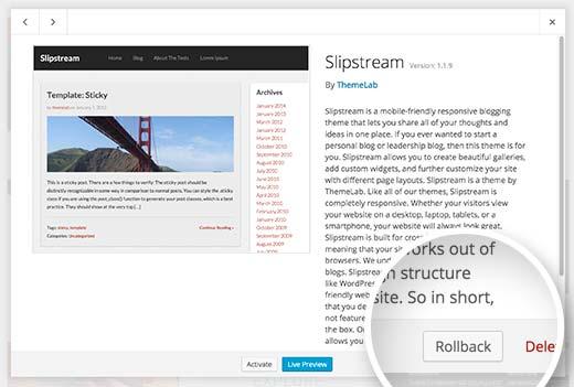 Cómo degradar una versión de un plugin de WordPress | BlogPasCher