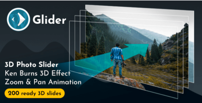 Glider 3d photo slider wordpress plugin