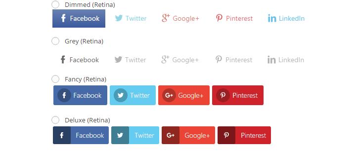 различные виды-, из-кнопок в обмен на акции-плагин-WordPress