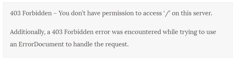 Comment Corriger L Erreur 403 Forbidden Sur Wordpress Blogpascher