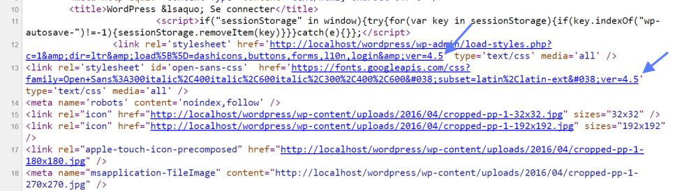 Source Code conexão WordPress
