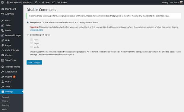 Disable Comments Plugins WordPress pour désactiver les commentaires