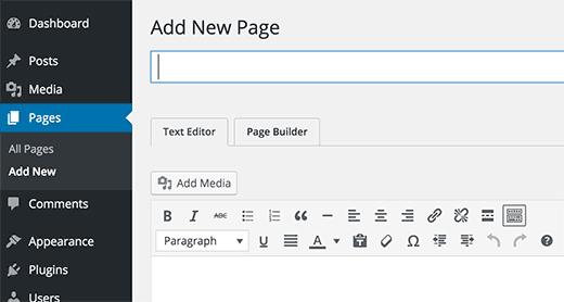 Editeur de page WordPress beaver plugin