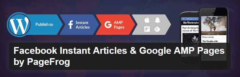 Facebook Мгновенные Статьи и Google Страницы по AMP PageFrog WordPress плагин