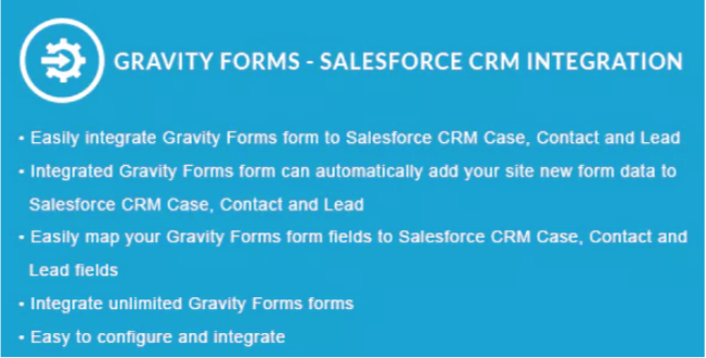 Gravity forms salesforce crm integration