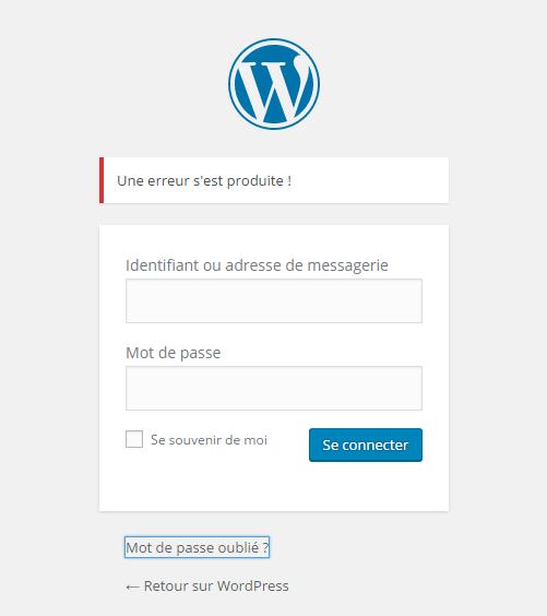 Изменение ошибки WordPress Главная страница