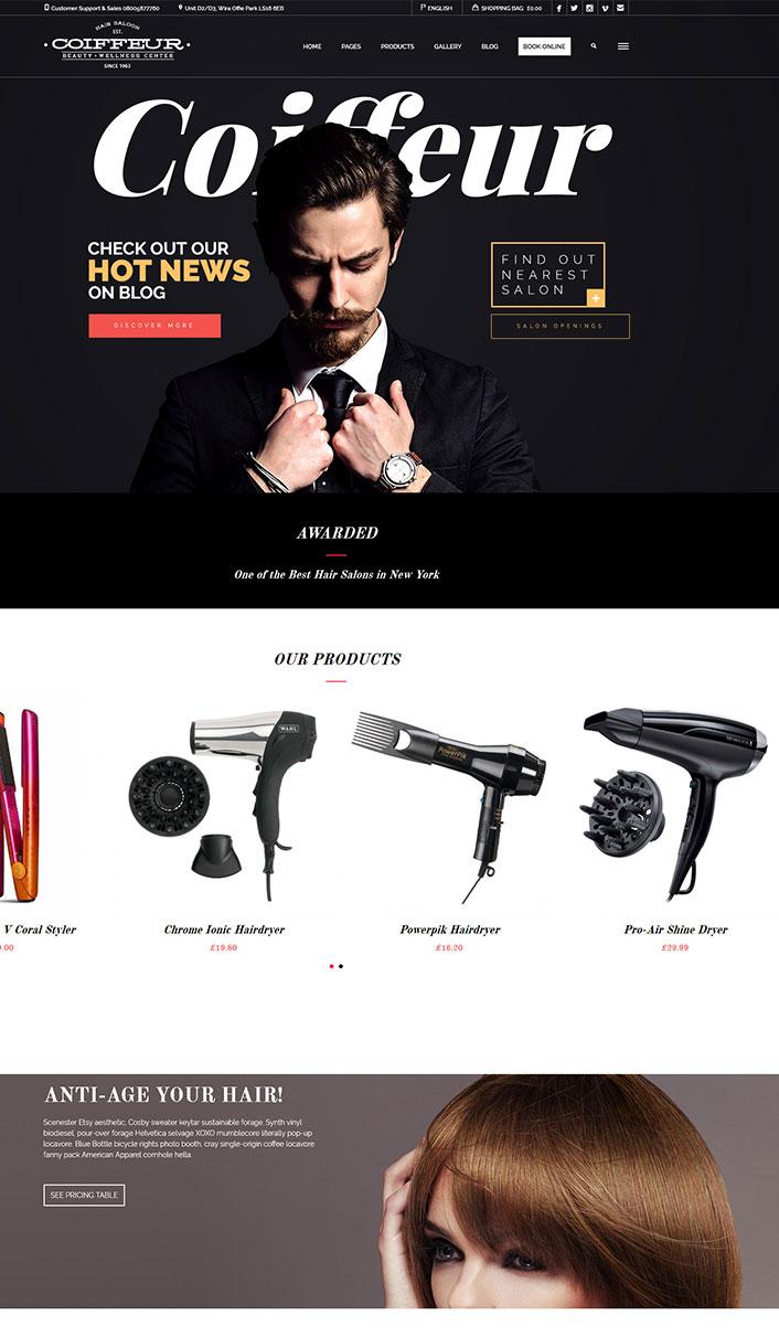 Coiffeur – Un thème WordPress pour créer un site web de salon de ...