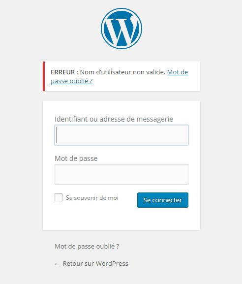 Войти страница например WordPress