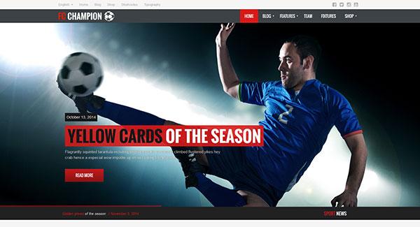 5 WordPress temas de fútbol del club / balonmano / Extreme Sports ...