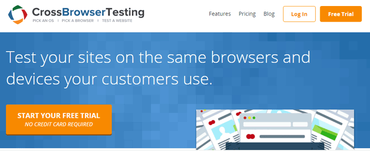 Cross Browser testing test pour site web