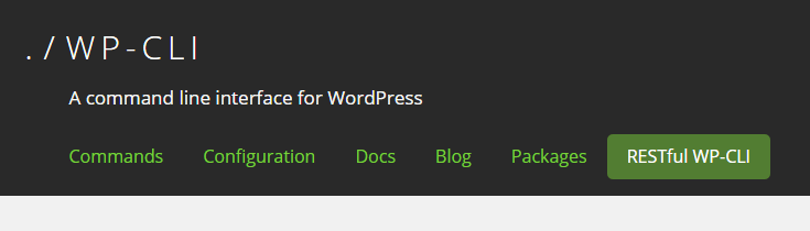 WP_CLI plugin WordPress