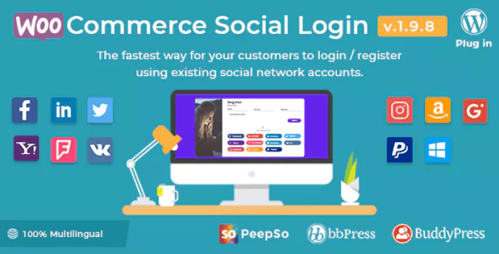 Woocommerce social login plugin wordpress linkedin