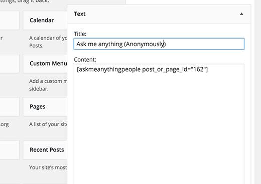 ama-widget pour WordPress