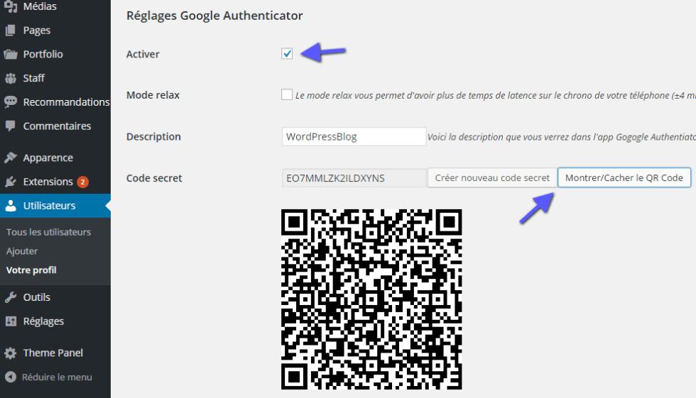 configuration google authenticator