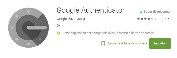 google play google authenticator
