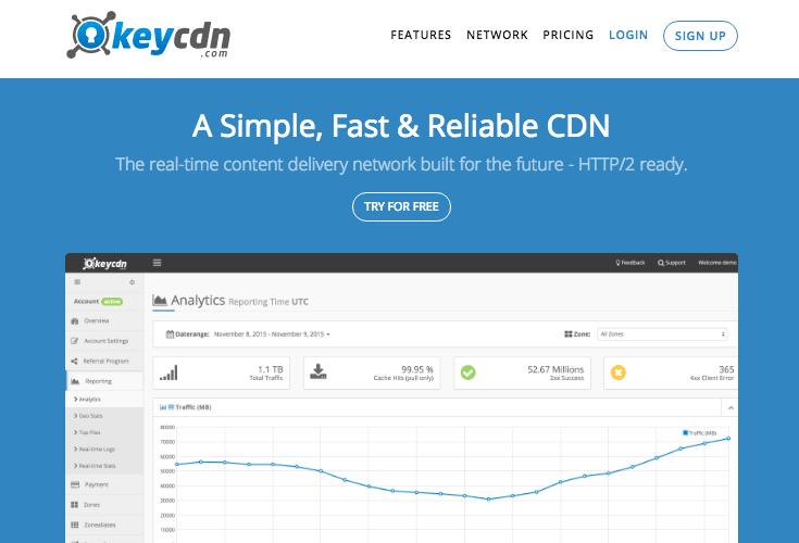 keycdn CDN pour WordPress
