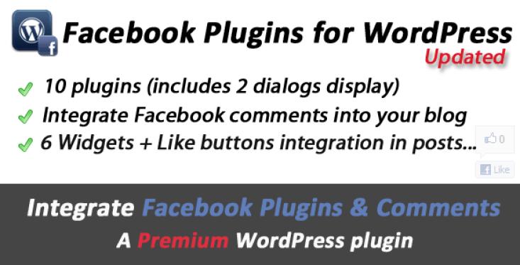 Facebook Plugins, comentários e Diálogos para WordPress