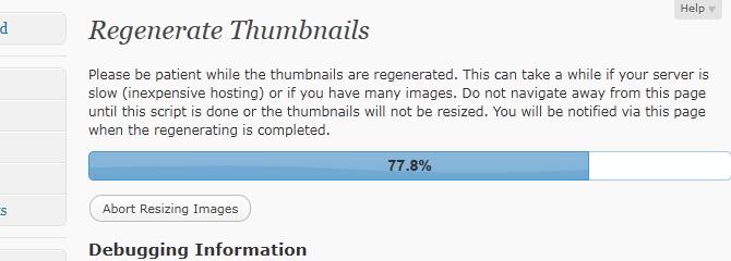 Regenerate-Thumbnails-plugin WordPress