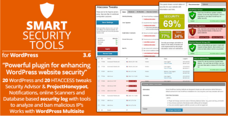 Smart security tools plugin wordpress securité