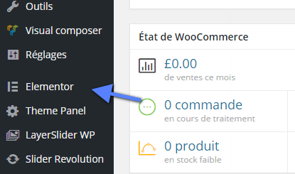 menu elementor WordPress