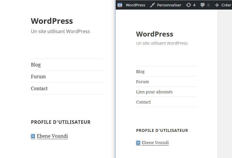 menu d'abonne WordPress if menu plugin