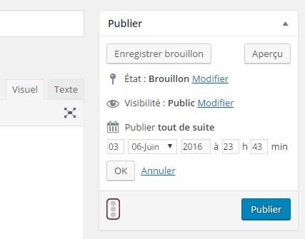 planification des articles WordPress