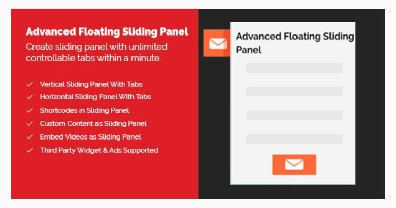 Advanced floating sliding panel