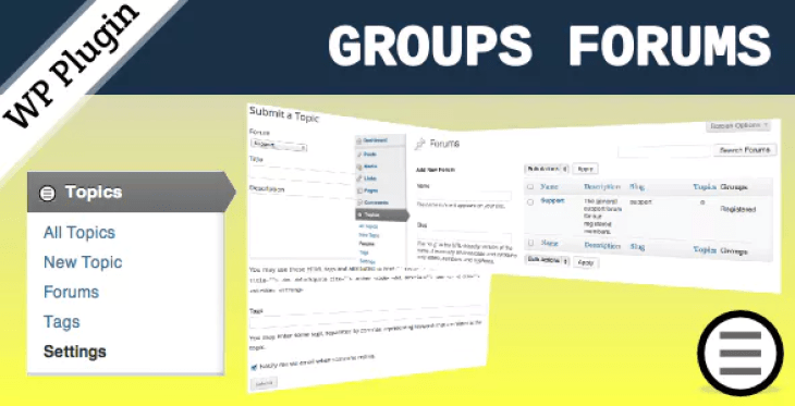 Groups forums plugin wordpress forum