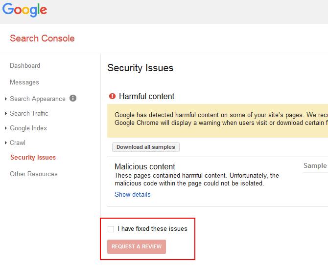 console google protection d'un blog