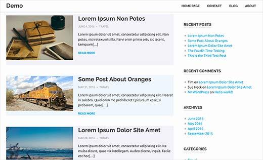 alternate colors WordPress articles