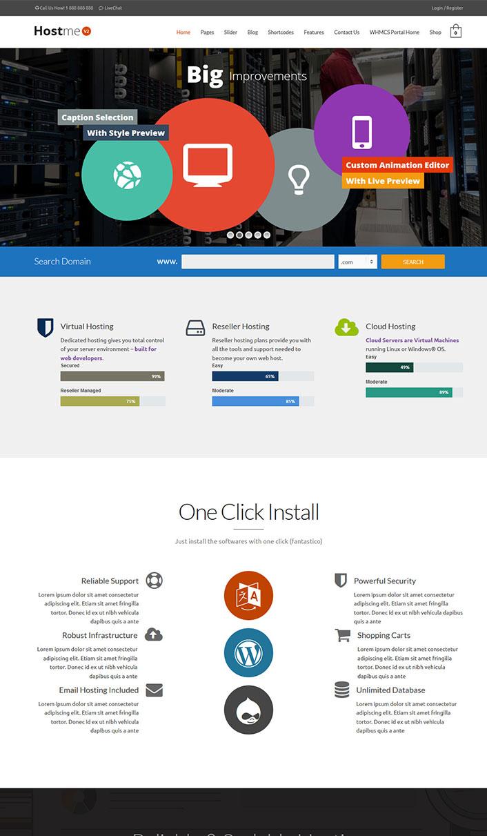 Hostme v2 - Ein Wordpress-Theme einen Web-Host für die Website ...