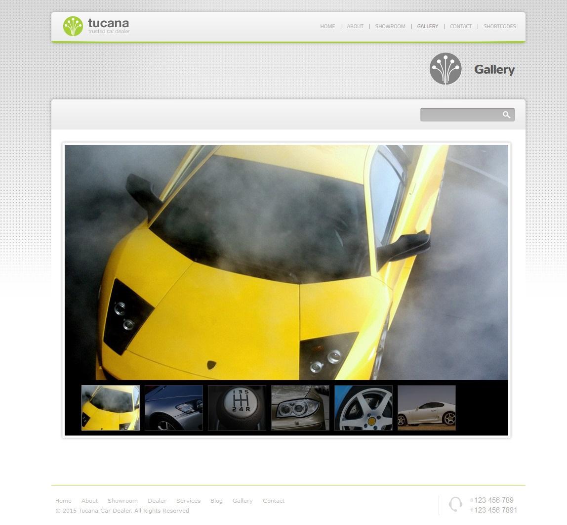 Tucana - Un tema de WordPress para el concesionario de coches ...
