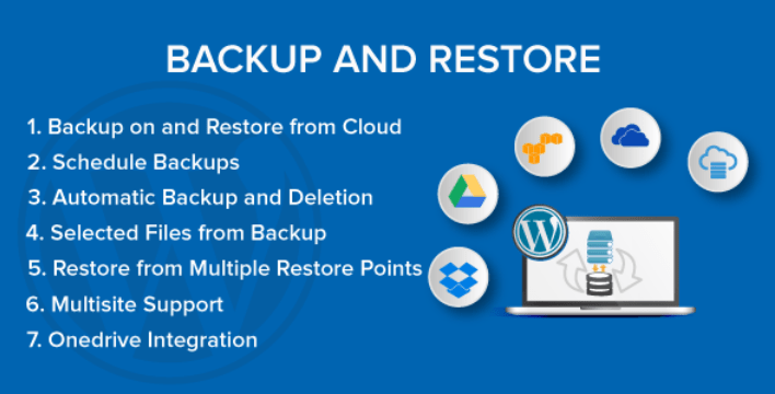 meilleur plugin WordPress - Backup and restore
