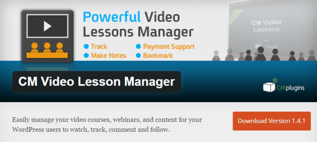 CM-Video-Lesson-Manager-Plugin WordPress