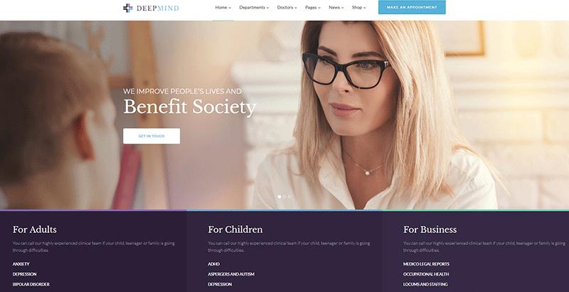 créer un site web de clinique - Deepmind