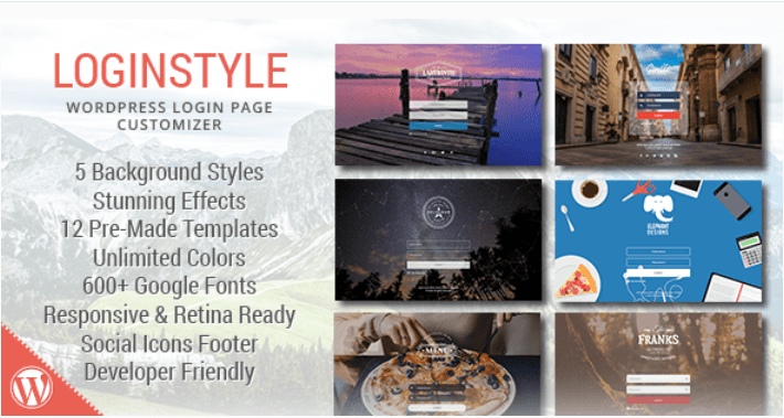 Loginstyle wordpress login page styler 1