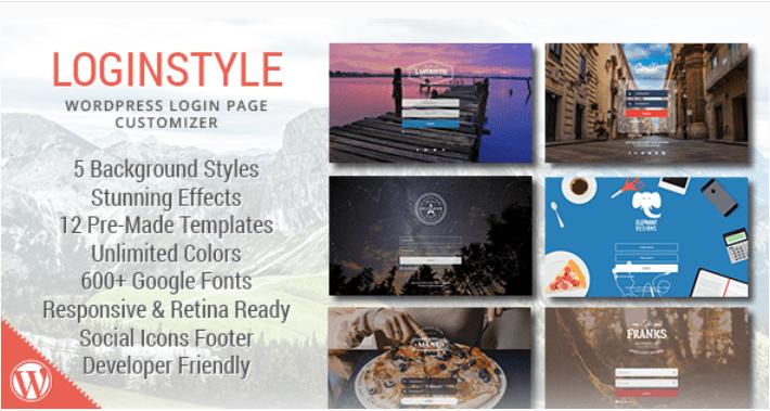 Стиль входа в Wordpress: стиль страницы входа 1