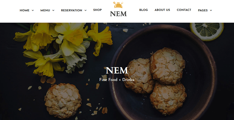 Nem themes wordpress creer site web restaurant