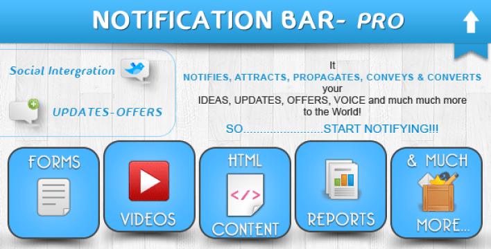 Bar notificação