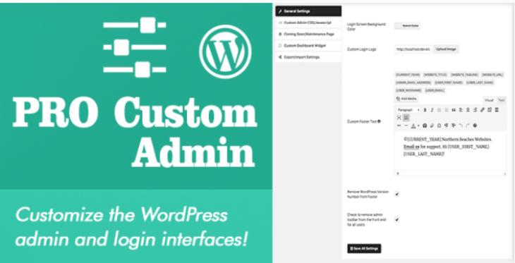 personnaliser une page de connexion  - Pro custom admin