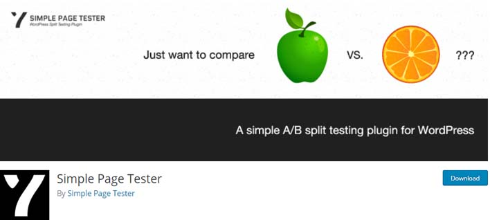 Simple page tester plugin wordpress test ab