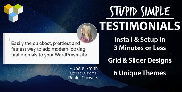 Stupid Simple Testimonials