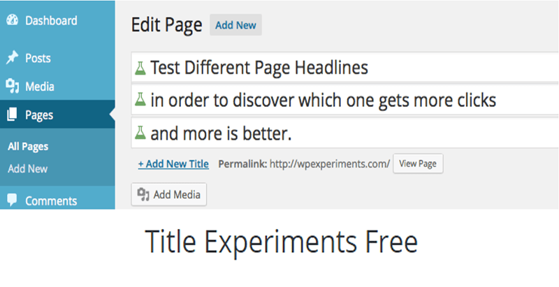Title experiments free plugin wordpress publicité