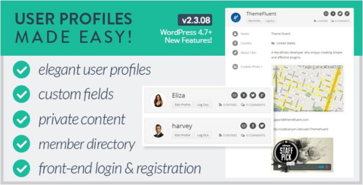 User profiles made easy wordpress plugin