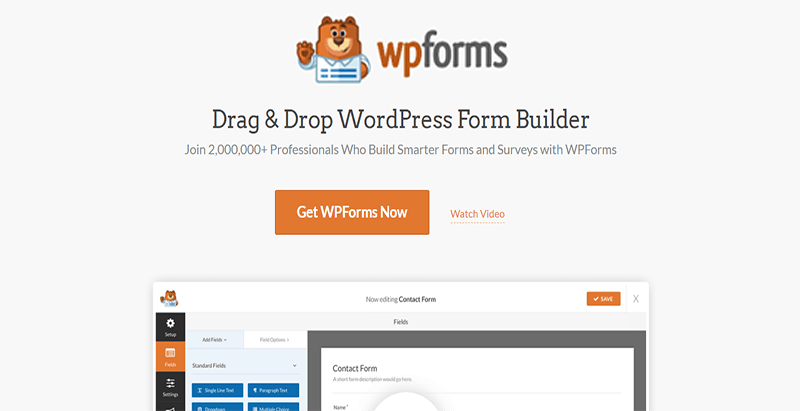 Wpforms plugin wordpress publicité