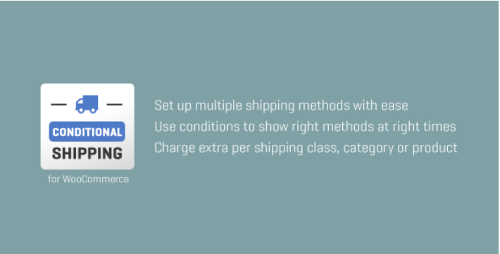 Woocommerce conditional shipping 1
