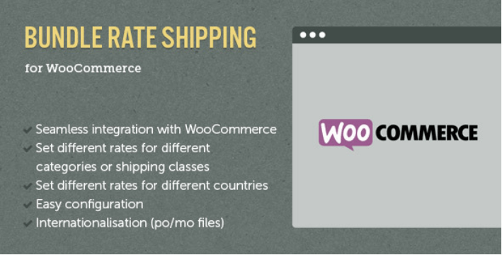Woocommerce e commerce bundle rate shipping