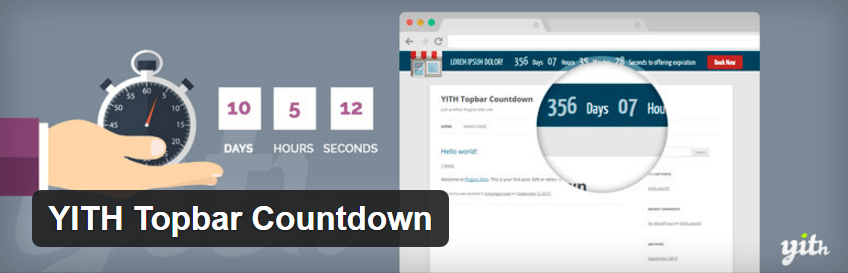 YITH countdown plugin WordPress